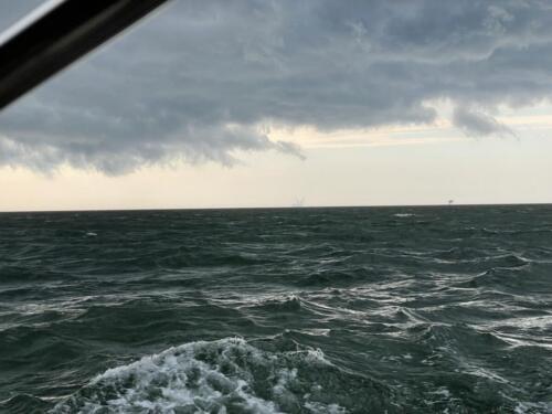 Gewitter auf der Nordsee